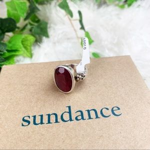 Sundance NWT Ruby Alexandra Sterling Silver Ring
